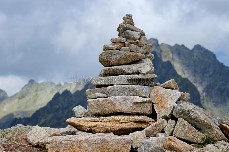 Pile of stones royalty free stock photography