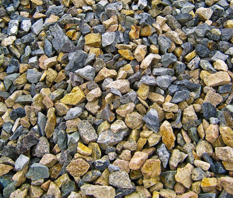 Pile of stones near construction site stock photos