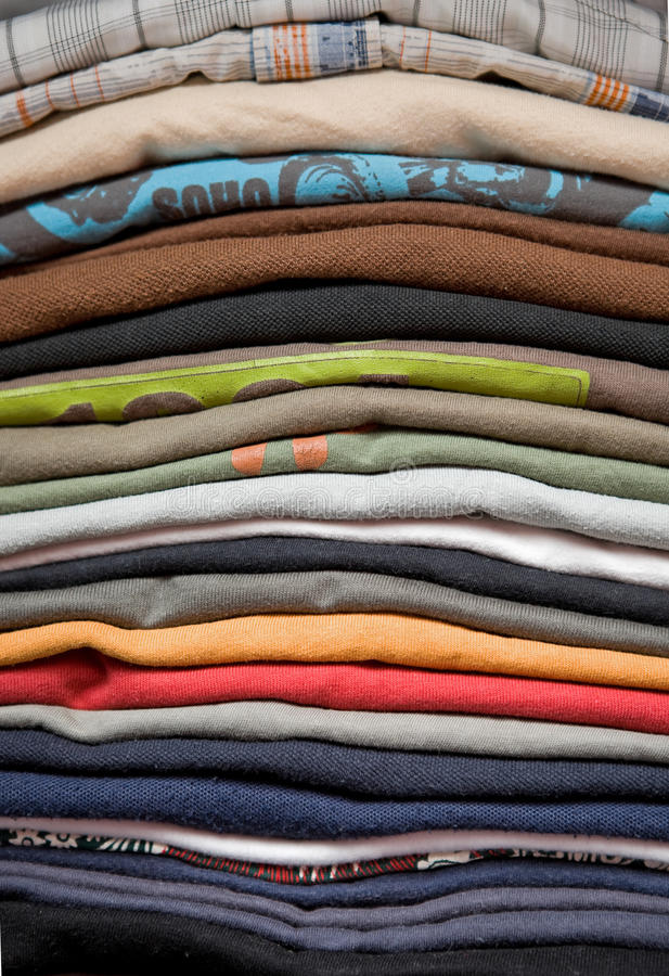 Pile Of T-shirts Royalty Free Stock Photography