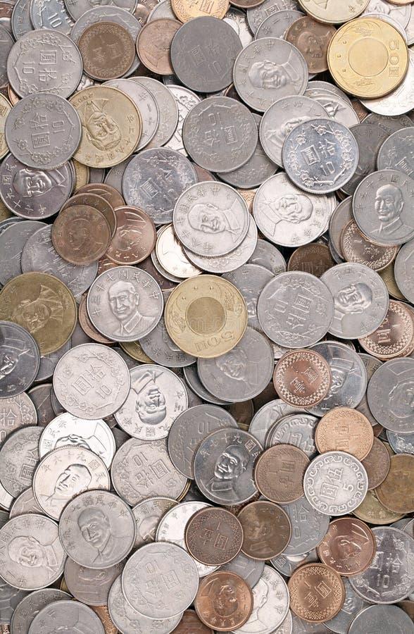 Pile Of Taiwanese Coins Stock Photos