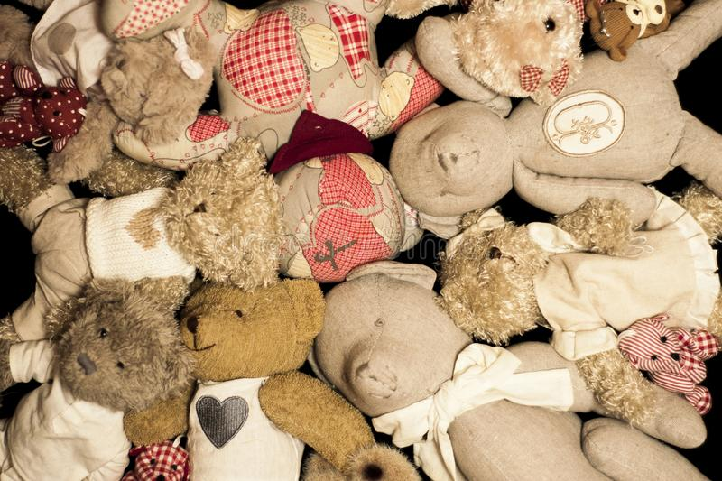 Pile of teddy bears royalty free stock photo