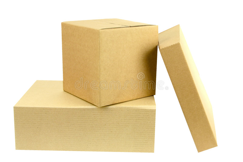 Download Pile Of Three Boxes Front On Stock Image - Image: 153101