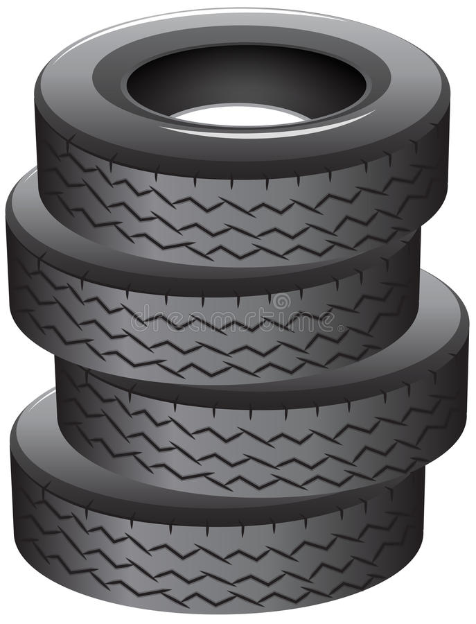 Pile of tires. Illustration of a pile of tires on a white background vector illustration