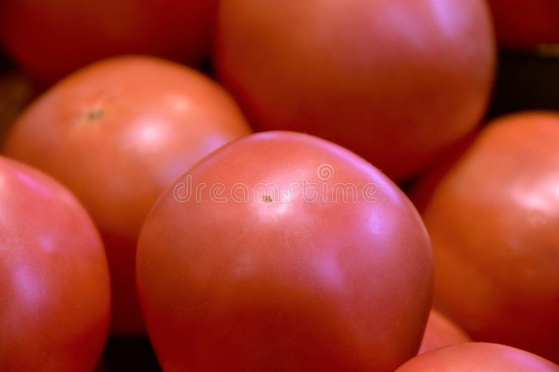 Pile of tomatos on the wagon. royalty free stock images