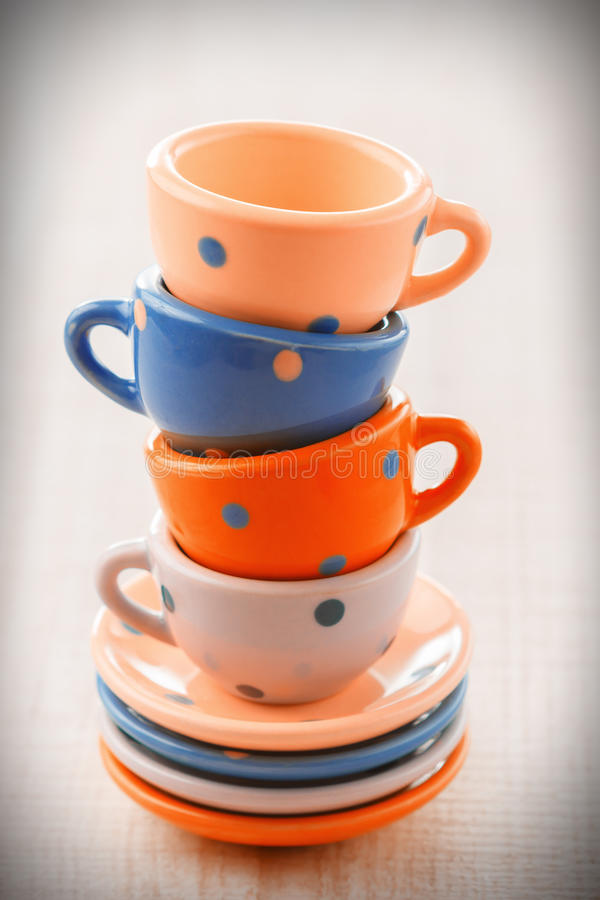 Pile of vintage tea cups stock photo. Image of cloth ...