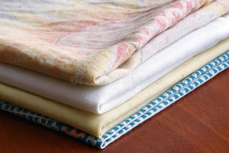 Download Pile of the washed linen stock photo. Image of covers - 12785142