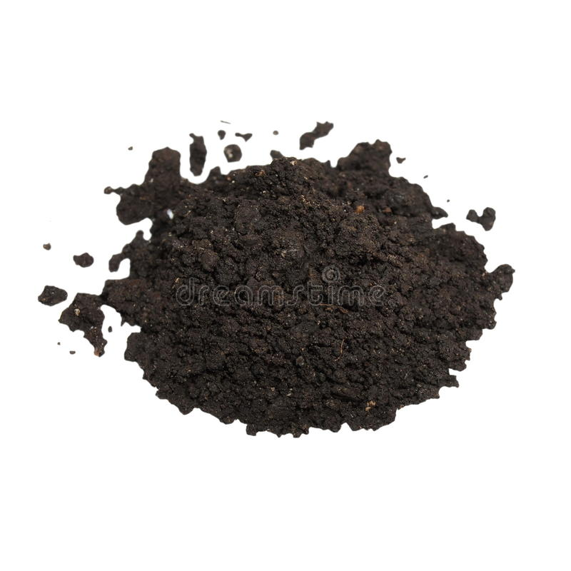 Download Pile Wet Soil Isolated On White Background Stock Photo - Image of isolated, dirt: 39503544