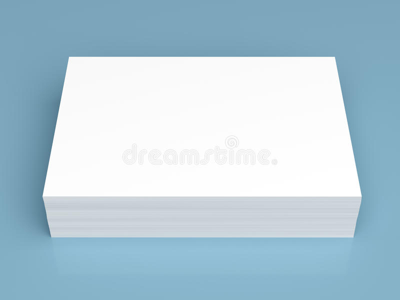 Pile of white paper royalty free illustration