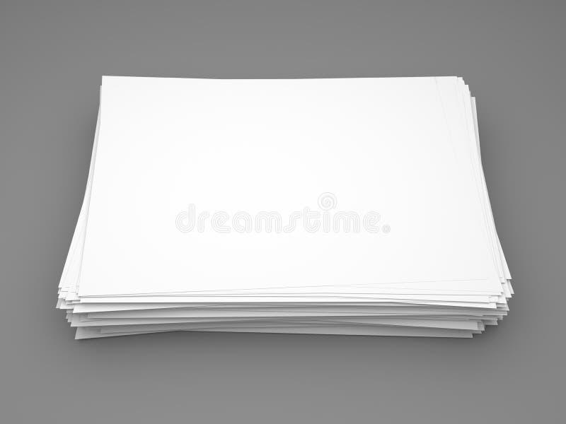 Pile of white paper vector illustration