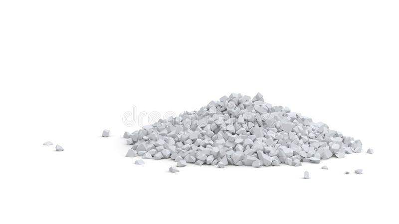 Pile of white stones royalty free illustration