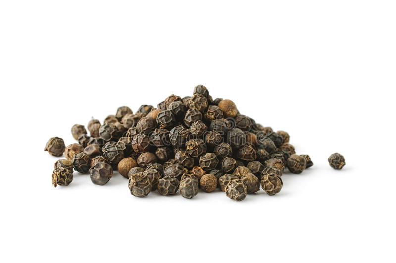 Pile of whole aromatic peppercorn royalty free stock photos
