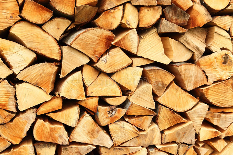 Pile of wood stock photo