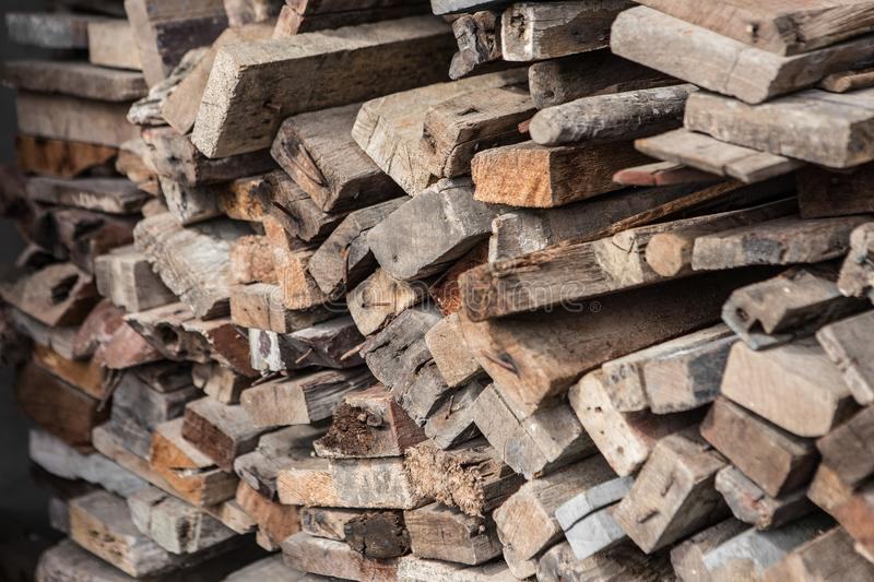 Pile Wood for construction royalty free stock photo