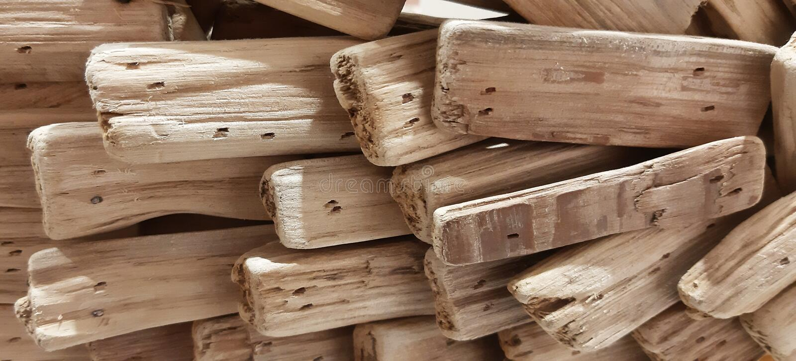 Wood pieces abstract texture background royalty free stock image