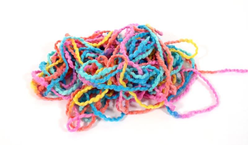 Pile of yarn stock photos