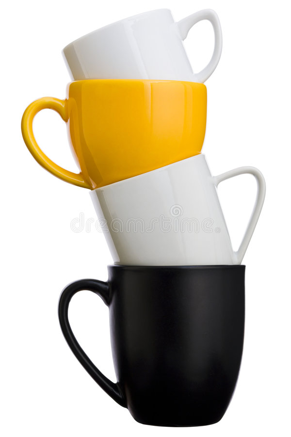 Piled cups royalty free stock photography