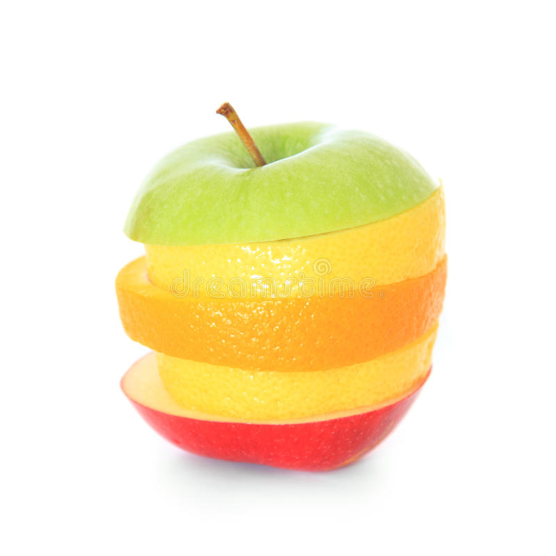 Download Piled Slices Of Various Fruits Stock Image - Image: 25775461