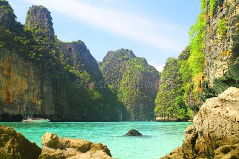 Pileh Bay on Koh Phi Phi Le Island - Thailand stock photo