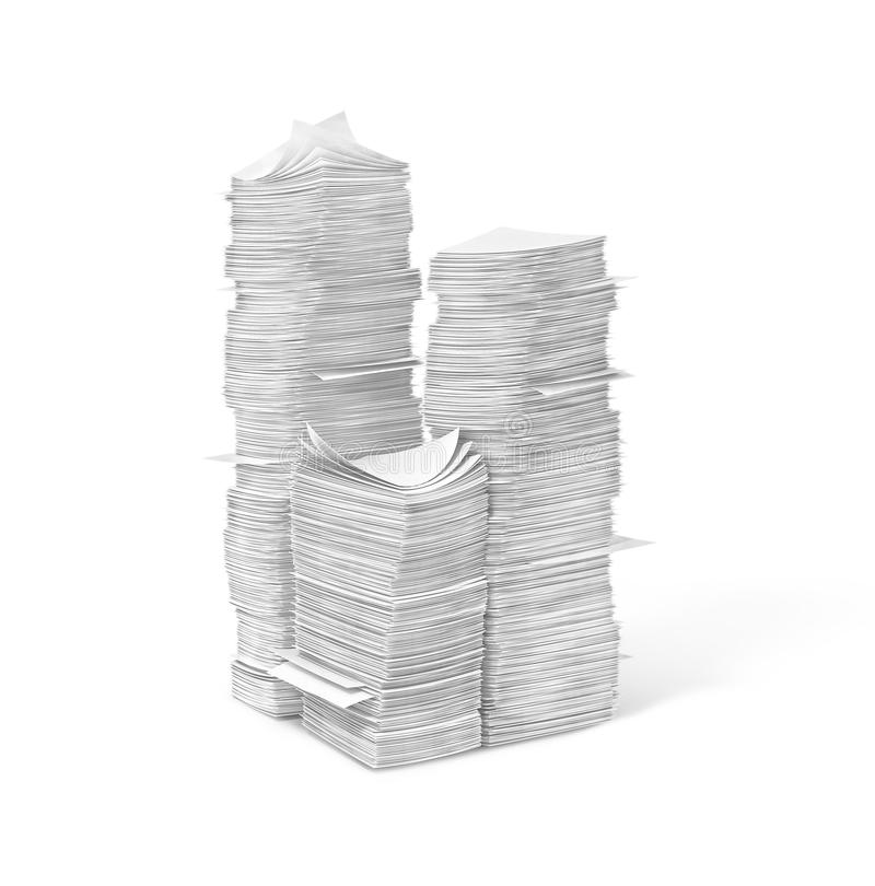 Piles of blank pages. 3d illustration vector illustration