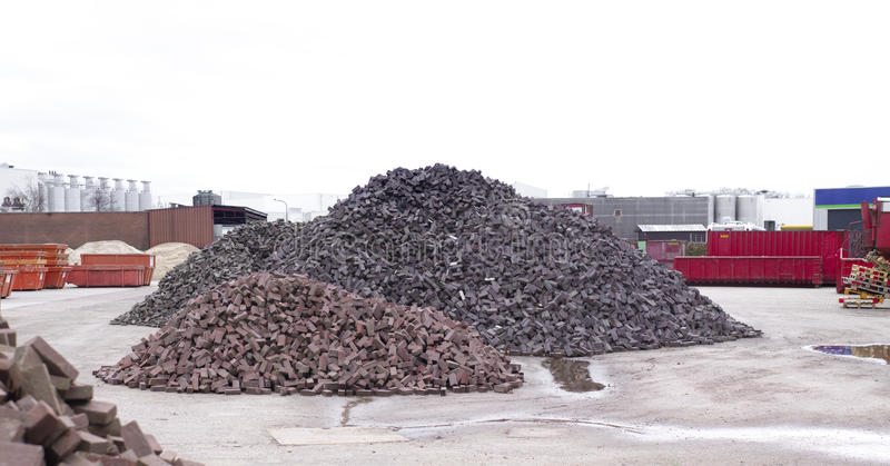 Download Piles of bricks stock image. Image of industrial, heap - 39297375