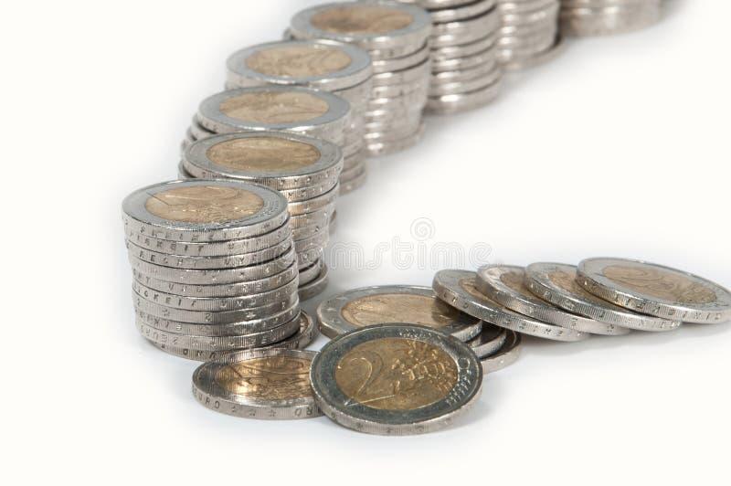 Piles d'argent photo stock