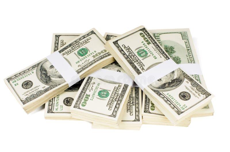 Piles d'isolement d'argent photographie stock