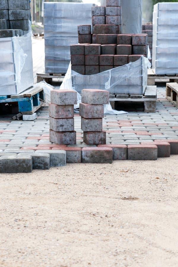 Piles de brique de trottoir photo libre de droits