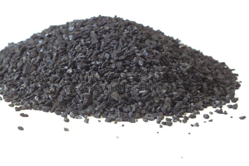Piles de charbon actif image libre de droits
