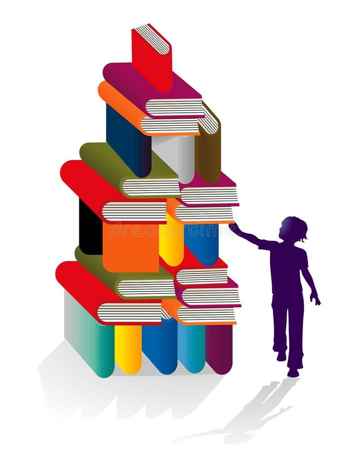 Piles de livres illustration libre de droits
