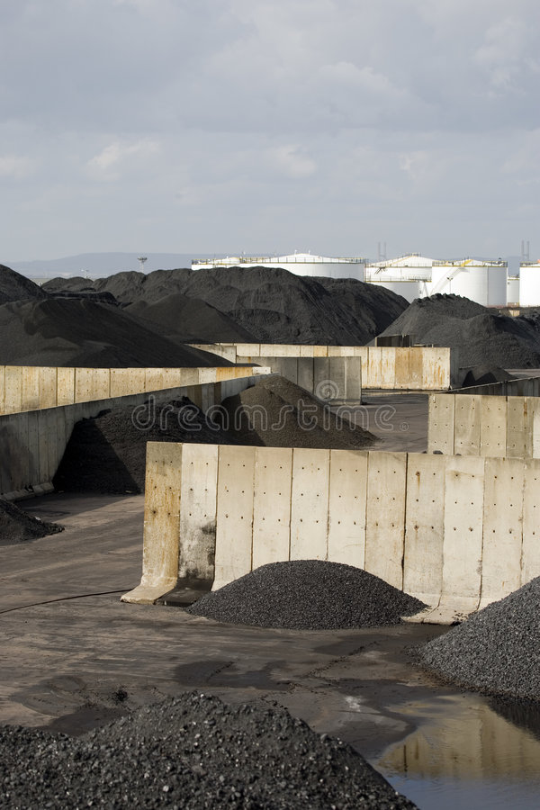 Piles de mémoire de charbon image libre de droits