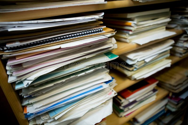 Piles de papier image libre de droits