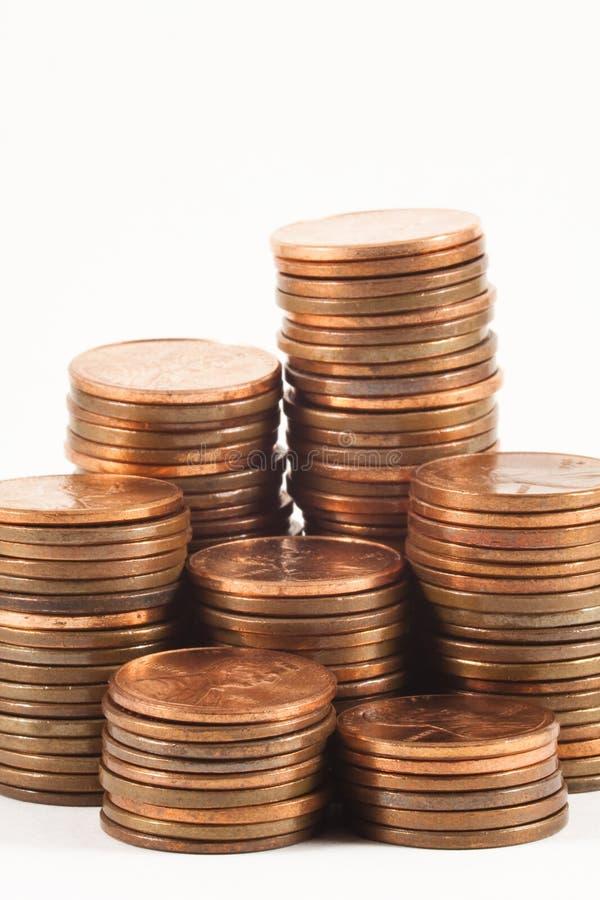 Piles de penny photo libre de droits