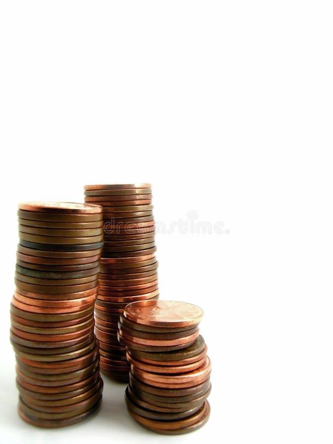 Piles de penny photographie stock libre de droits