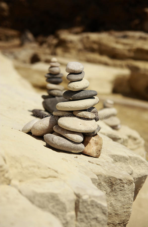 Piles de roches image libre de droits