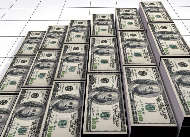 Piles des dollars illustration stock