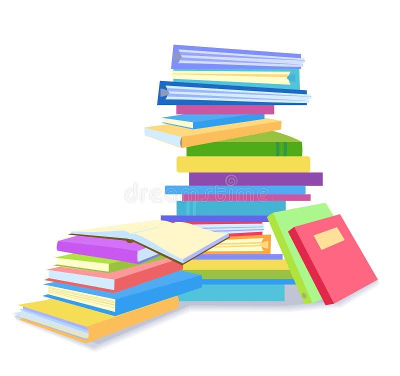 Piles des livres illustration stock