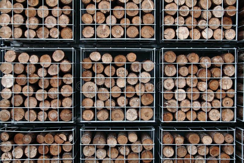 Piles des logarithmes naturels photo stock