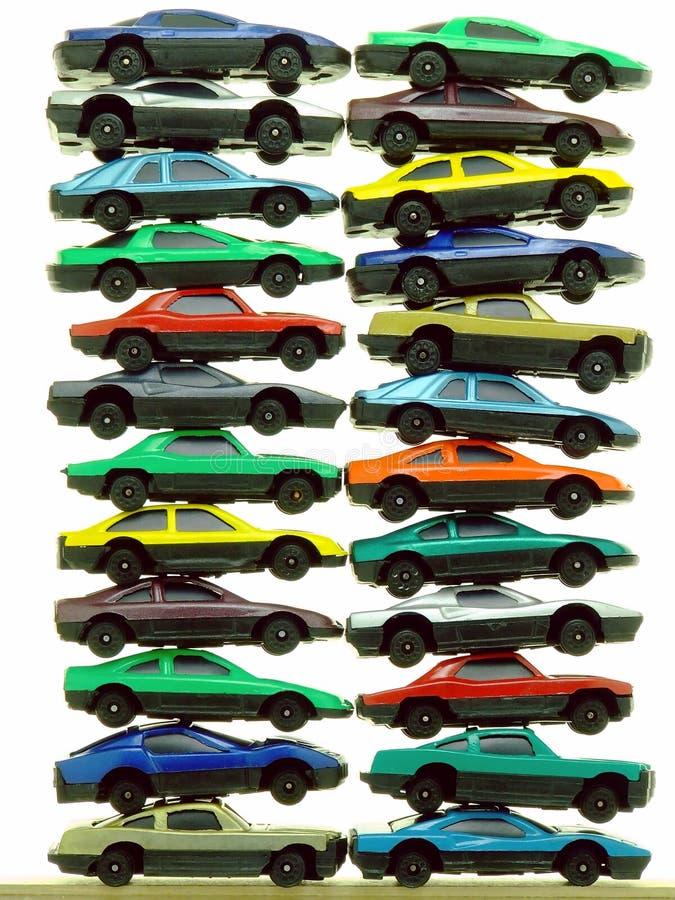 Piles des véhicules de jouet photographie stock libre de droits