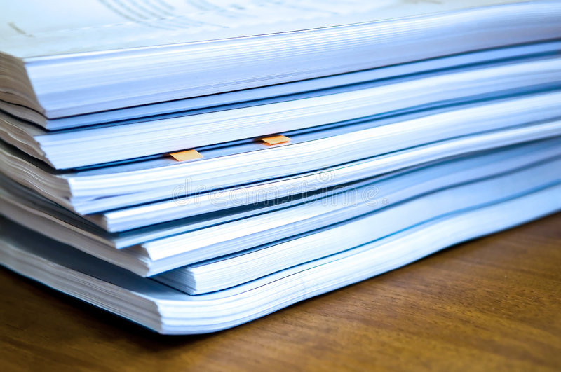 Piles of documents stock photography