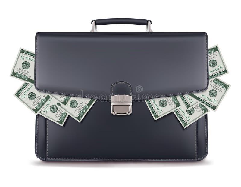 Piles du dollar à l'intérieur de serviette créateur illustration de vecteur