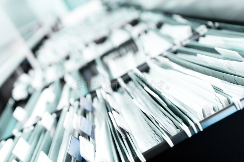 Download Piles of files stock image. Image of organized, notes - 4850879