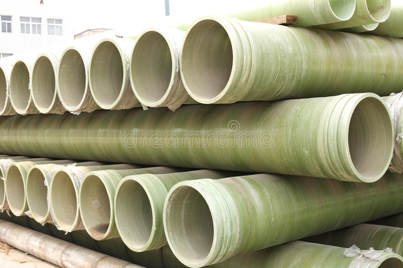 Piles Of Pipes For Delivery Stock Images