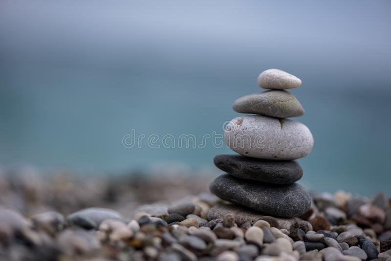 The Yoga of Balancing Stones. The piles of rocks formed the shape of the constellation the Big Dipper—perhaps as a navigation tool for when the skies were stock photos