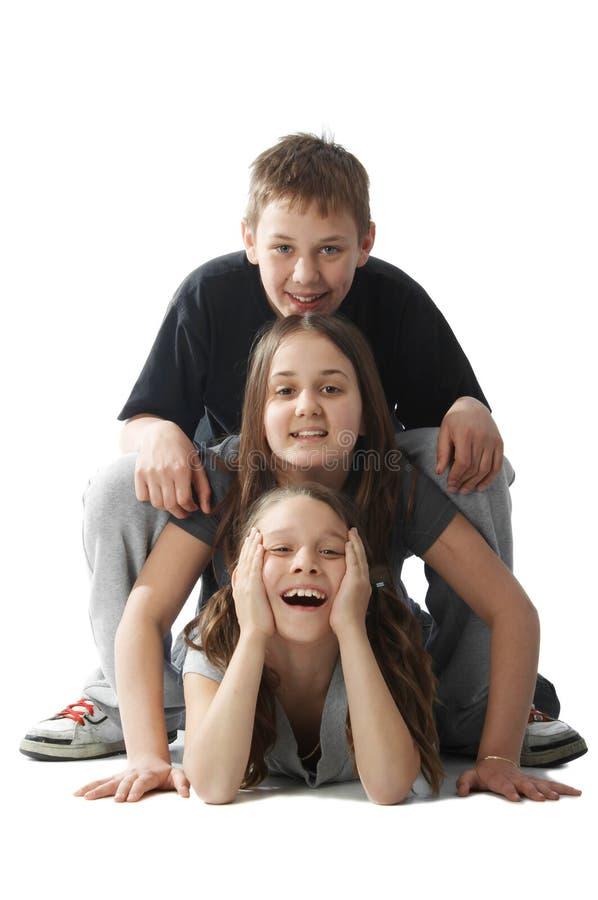 Pileup das crianças imagem de stock royalty free