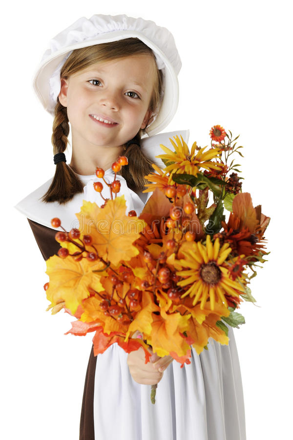 Download Pilgrim Bouquet stock image. Image of fall, female, girl - 26394495