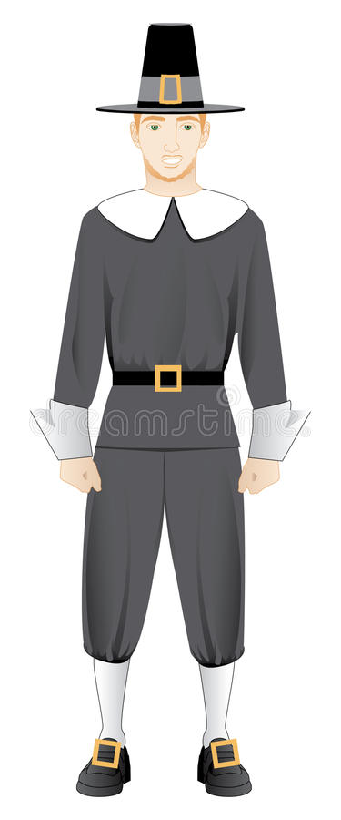 Pilgrim Man vector illustration