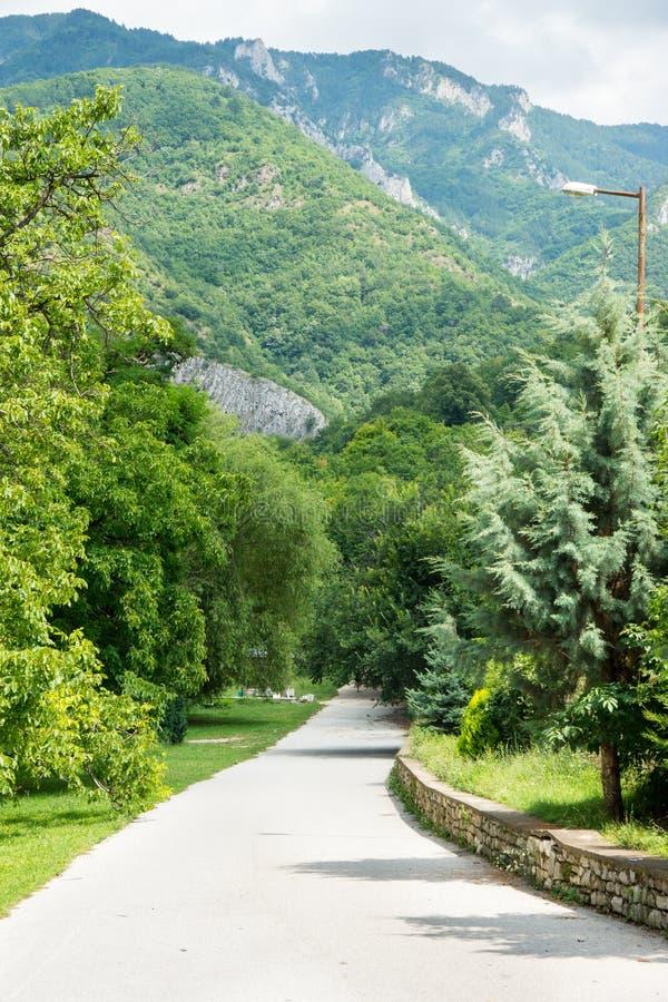 Pilgrim trail to the holy sites of the monastery Bachkovski royalty free stock image