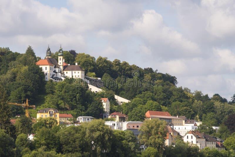 Pilgrimage Church of Mariahilf, Passau, Bavaria, Germany stock photography