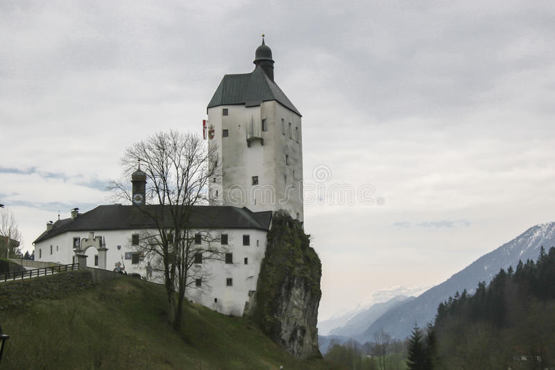Pilgrimage church Mariastein in Tyrol. The castle and pilgrimage church Mariastein is located on a 14 meter high rock in Tyrol royalty free stock photos