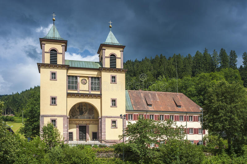 The pilgrimage church Mater Dolorosa in Bad Rippoldsau-Schapbach. Black Forest, Baden-Wurttemberg, Germany, Europe royalty free stock photos